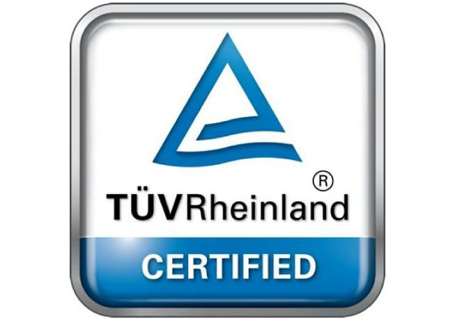 New and upgraded TÜV Rheinland certificates