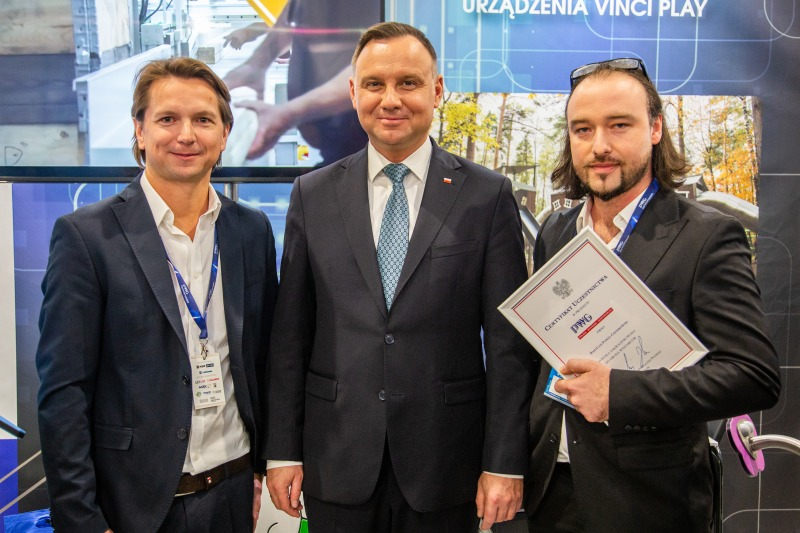 President Duda with Vinci Play at PWG 2020