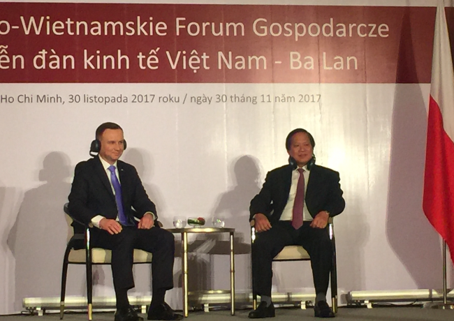 Vinci and president in Vietnam